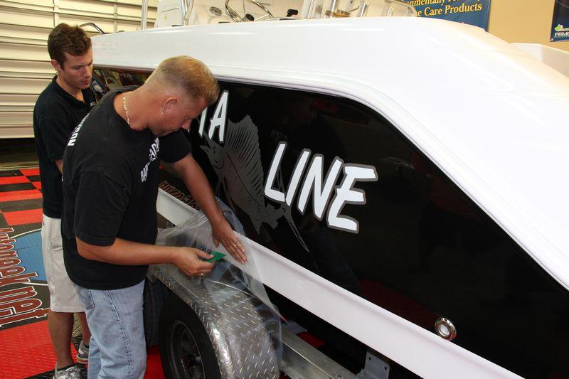 Custom Vinyl Decals Custom Law Sticks Boat Numbers